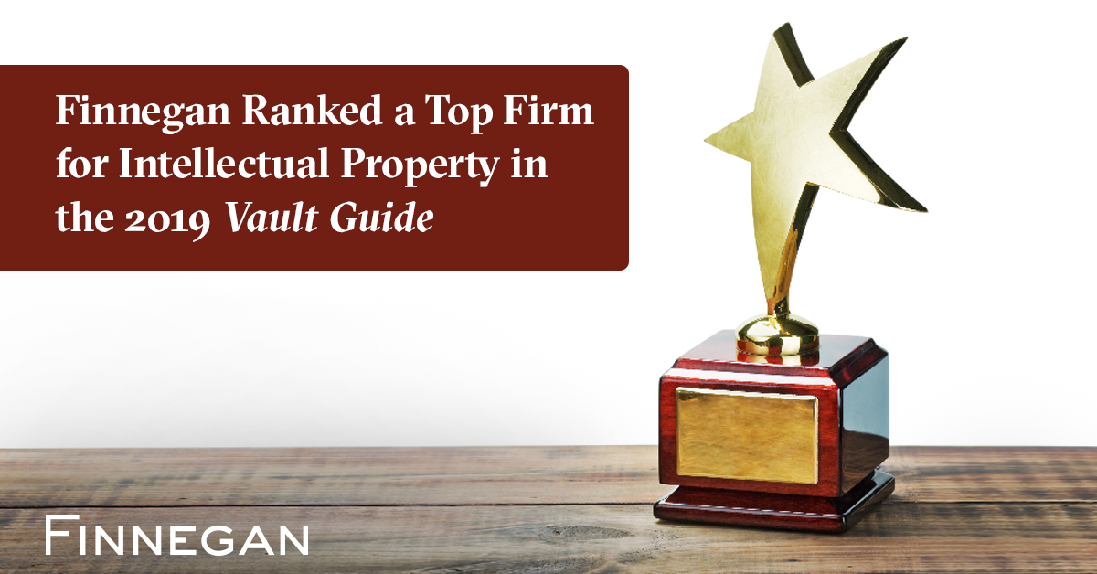 Finnegan Ranked a Top Firm in the 2019 Vault Guide