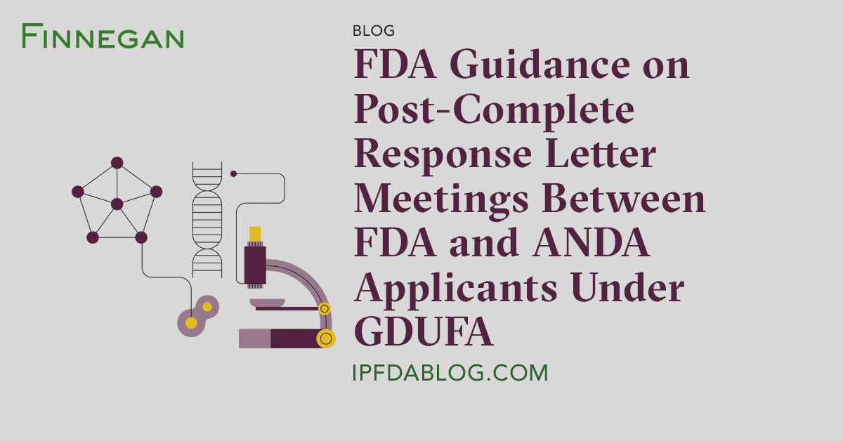 complete response letter fda guidance on post complete response letter meetings 20931 | 216354
