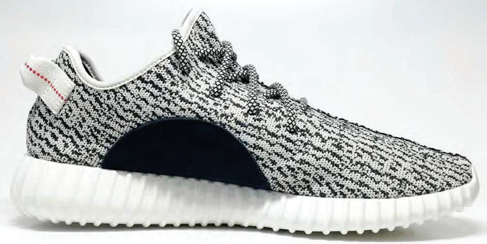 yeezy black and white stripe
